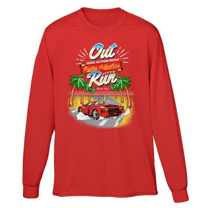 Outrun - Long Sleeve T-Shirt (Unisex)