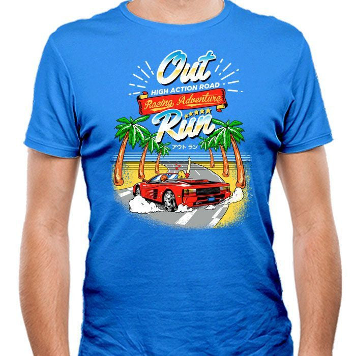 Outrun - Men's Fitted T-Shirt