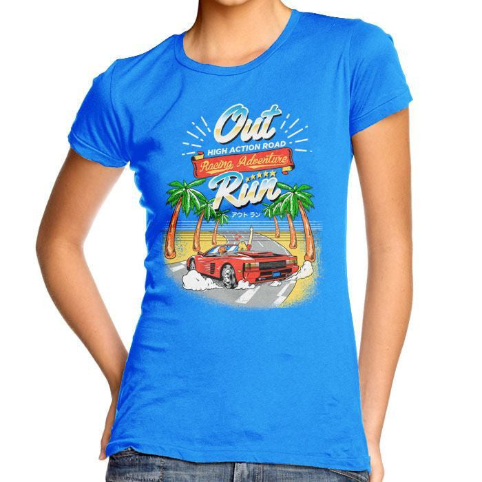 Outrun - Women's Fitted T-Shirt