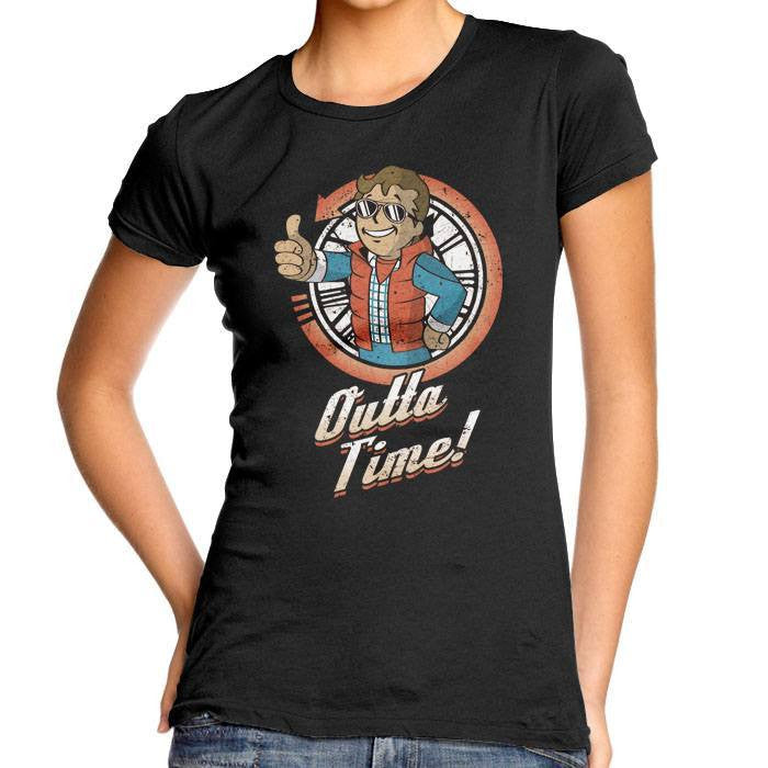 Outta Time - Women's Fitted T-Shirt