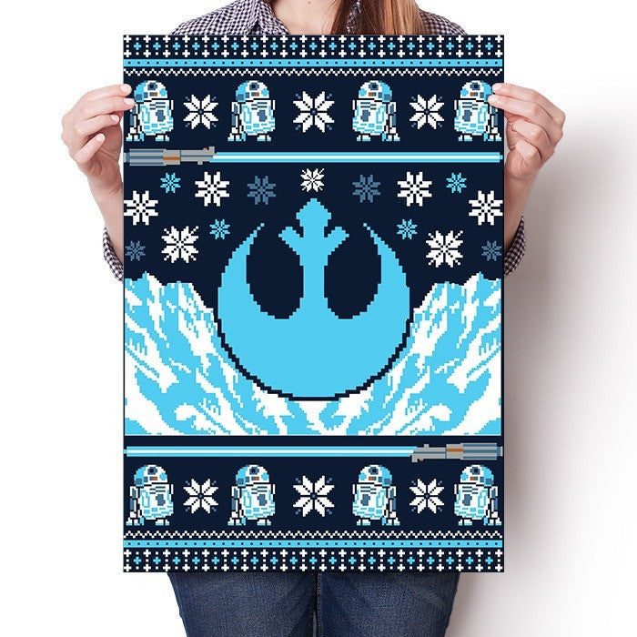 Rebel Holiday Sweater - Poster