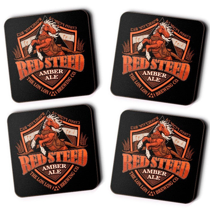 Red Steed Amber Ale - Coasters