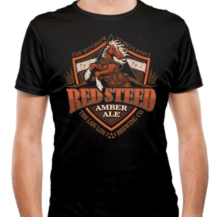 Red Steed Amber Ale - Men's Fitted T-Shirt