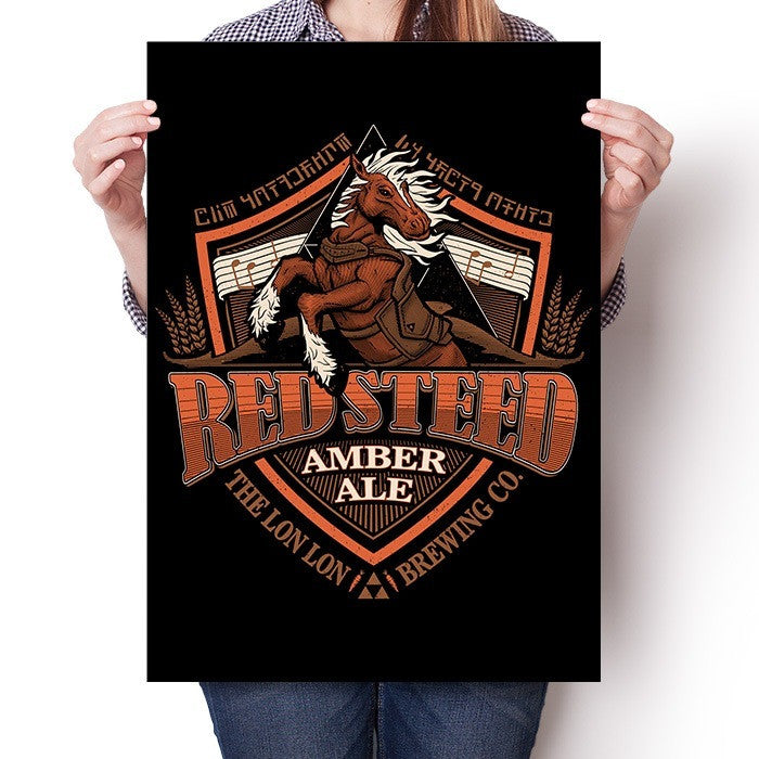Red Steed Amber Ale - Poster