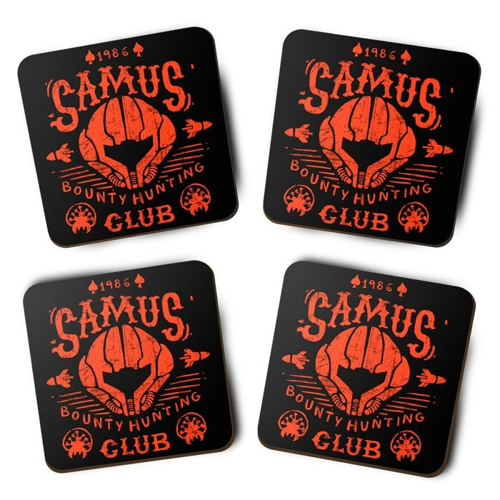 Samus Bounty Hunting Club - Coasters