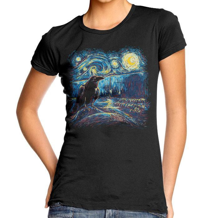Starry Night's Watch - Women's Fitted T-Shirt