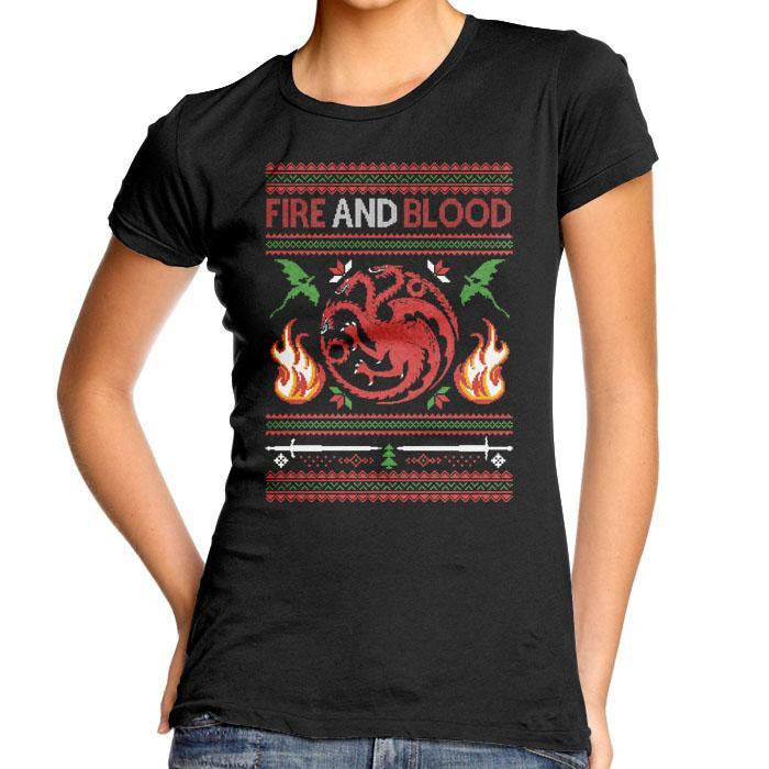 Sweater of Dragons - Women's Fitted T-Shirt