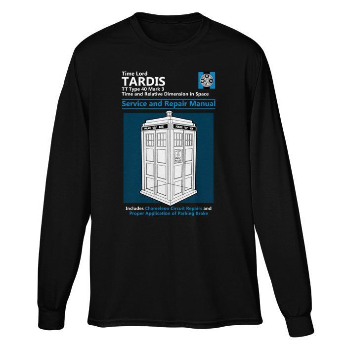 Tardis Service and Repair Manual - Long Sleeve T-Shirt (Unisex)