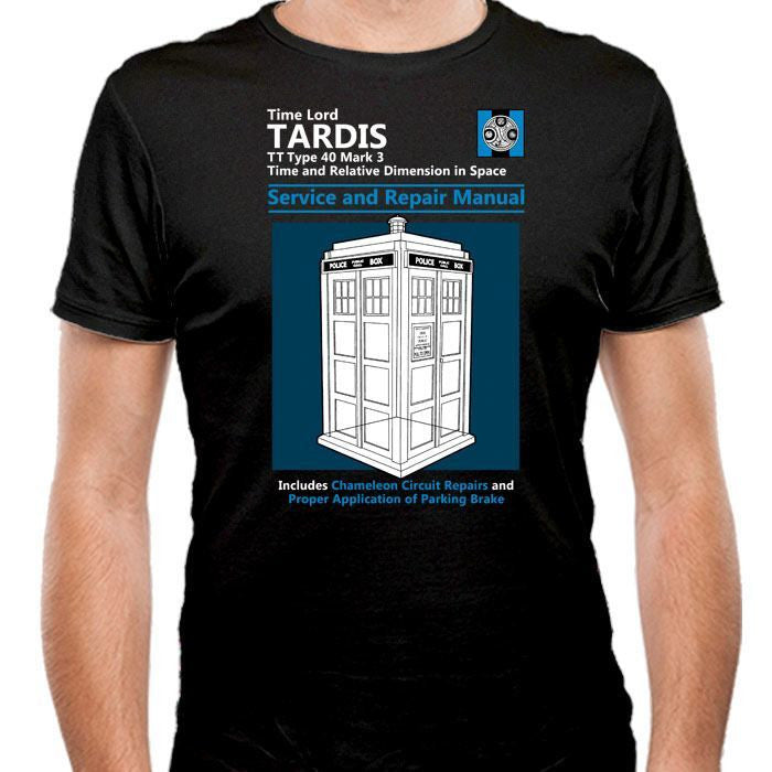 Tardis Service and Repair Manual - Men's Fitted T-Shirt