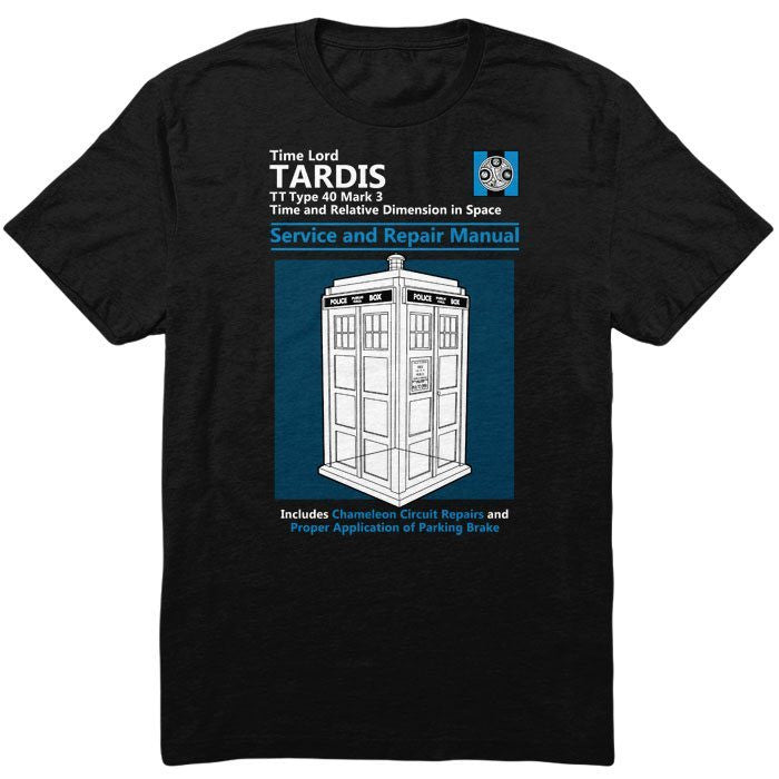 Tardis Service and Repair Manual - Men's T-Shirt