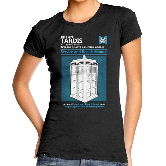 Tardis Service and Repair Manual - Women's Fitted T-Shirt