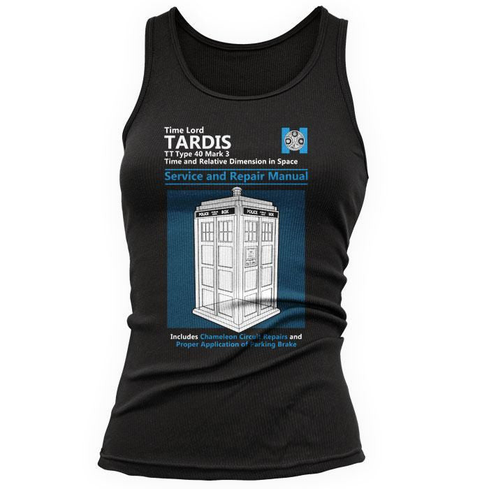 Tardis Service and Repair Manual - Women's Tank Top