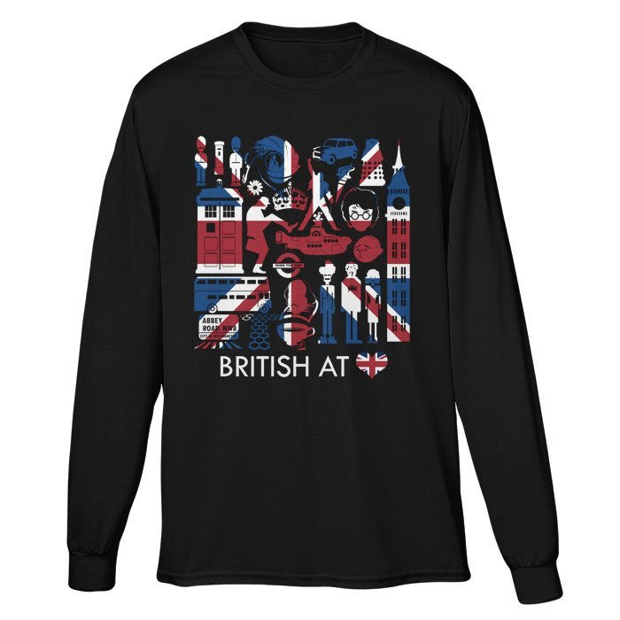 The British at Heart - Long Sleeve T-Shirt (Unisex)