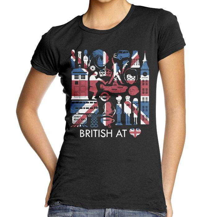 The British at Heart - Women's Fitted T-Shirt