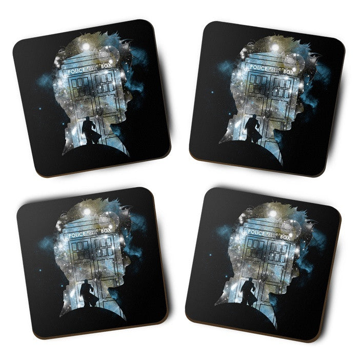 The Doctor's Silhouette - Coasters