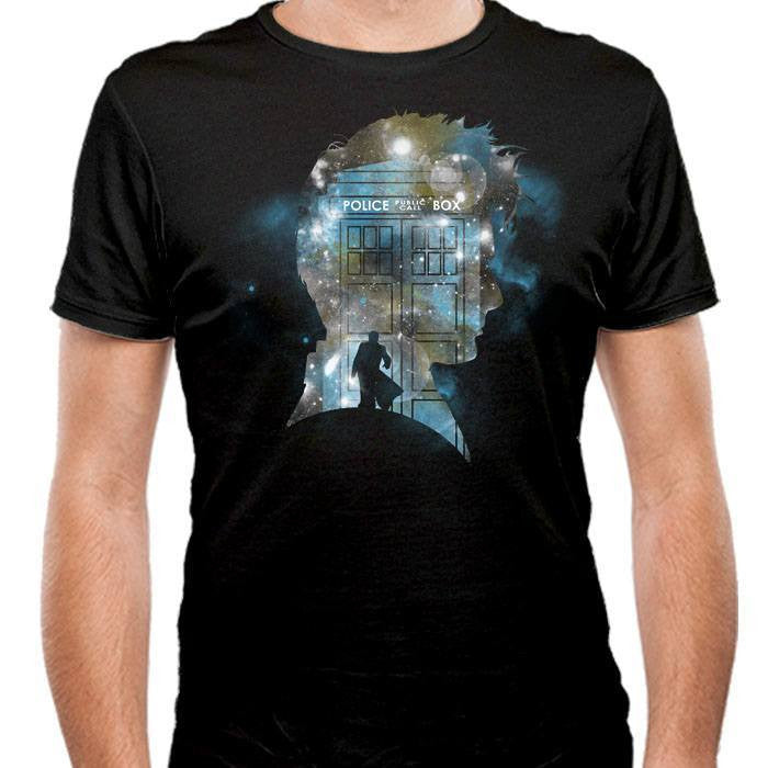 The Doctor's Silhouette - Men's Fitted T-Shirt