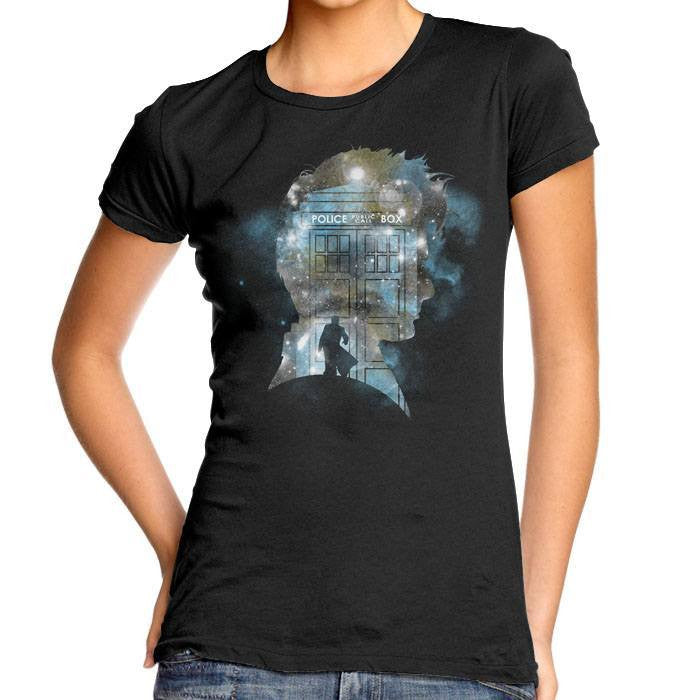 The Doctor's Silhouette - Women's Fitted T-Shirt