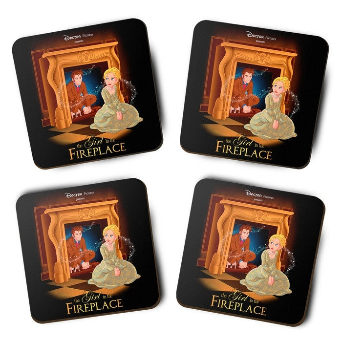 The Girl in the Fireplace - Coasters