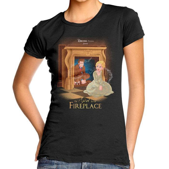 The Girl in the Fireplace - Women's Fitted T-Shirt