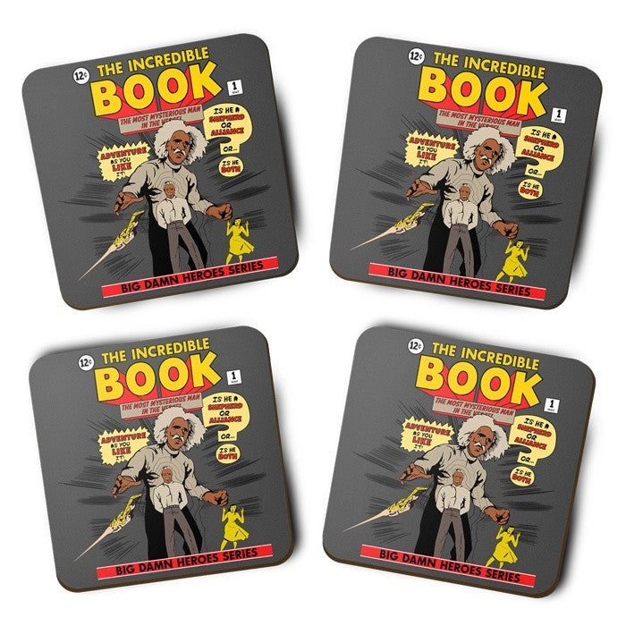 The Incredible Book - Coasters