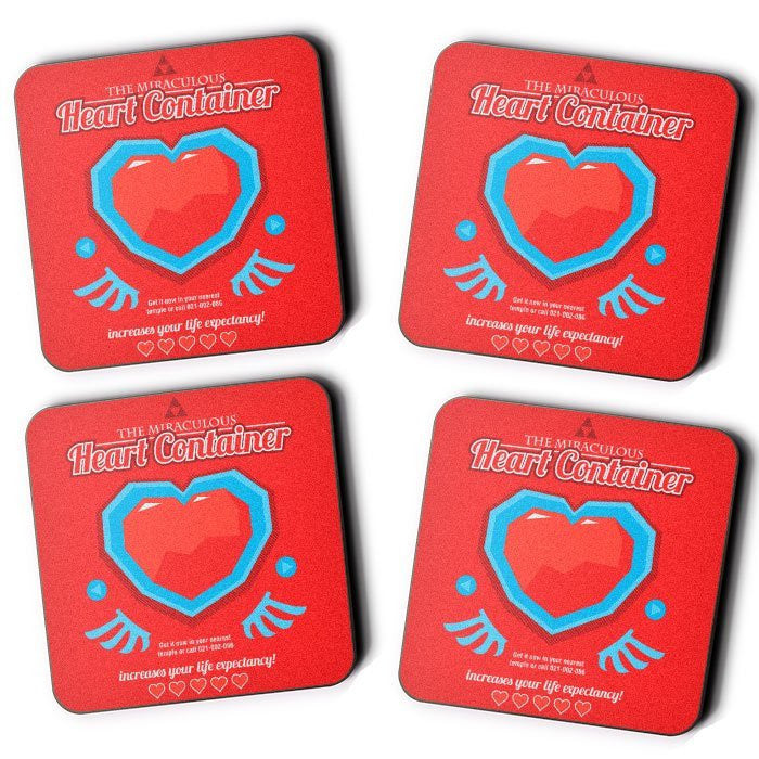 The Miraculous Heart Container - Coasters