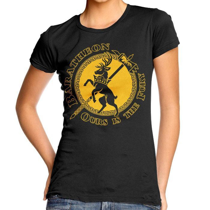 The Stag of Fury - Women's Fitted T-Shirt