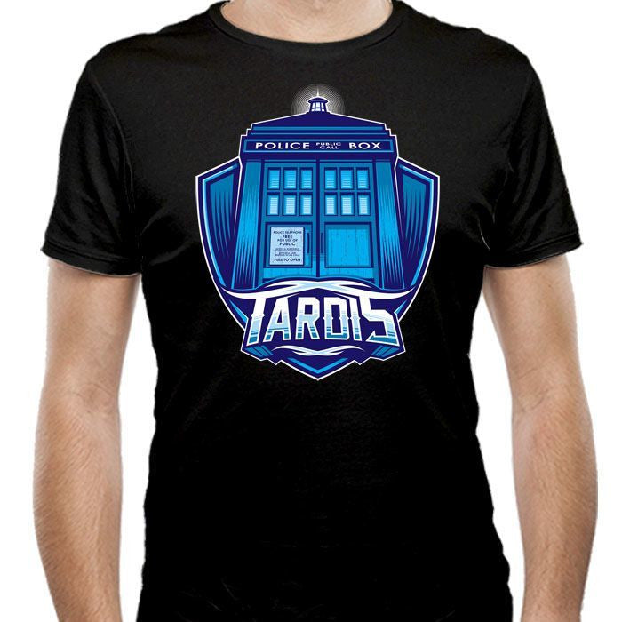 The Tardis - Men's Fitted T-Shirt