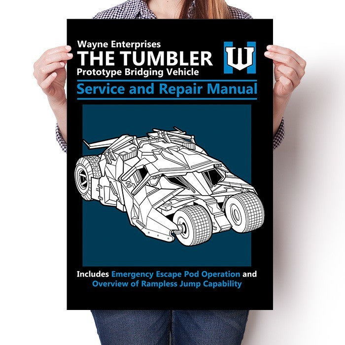 The Tumbler Service and Repair Manual - Poster