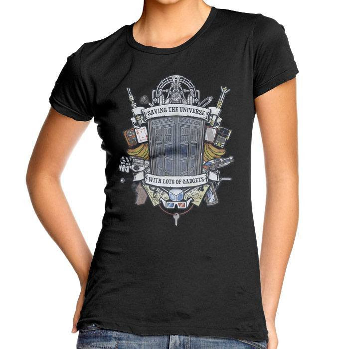Timelord Crest - Women's Fitted T-Shirt