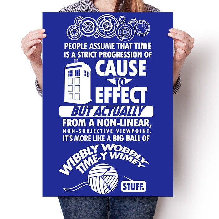 Timey Wimey Tee - Poster