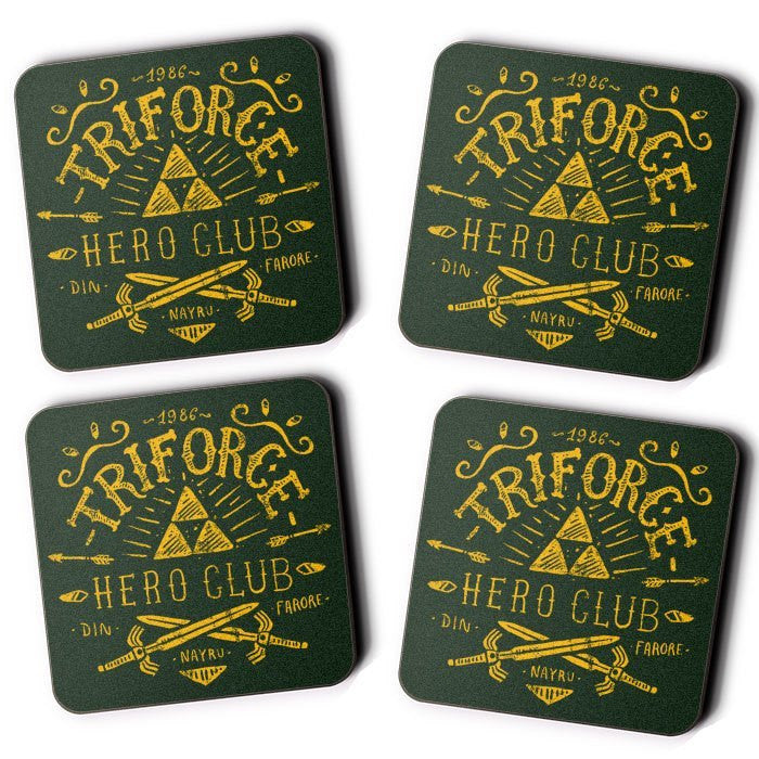 Triforce Hero Club - Coasters