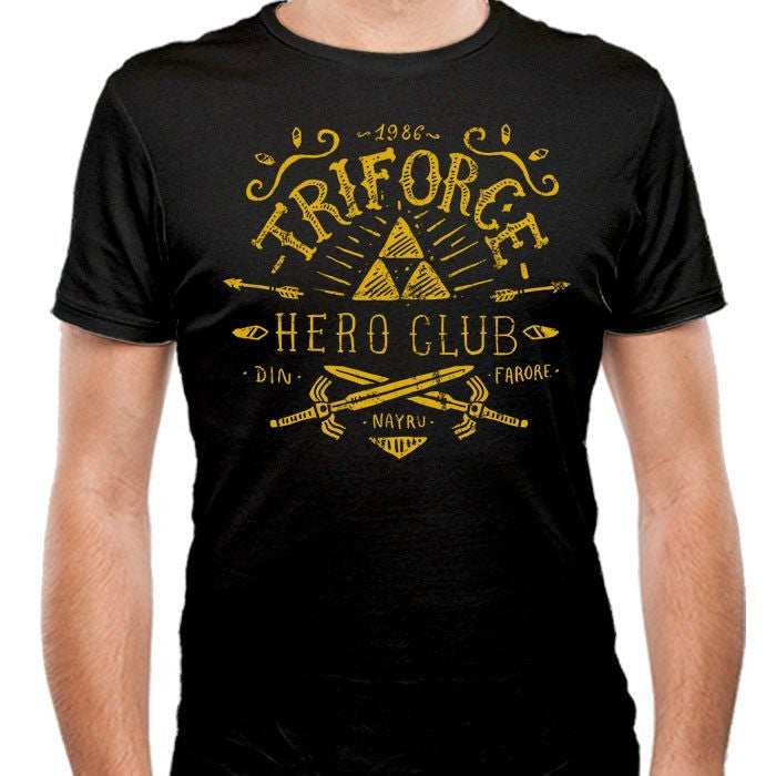 Triforce Hero Club - Men's Fitted T-Shirt