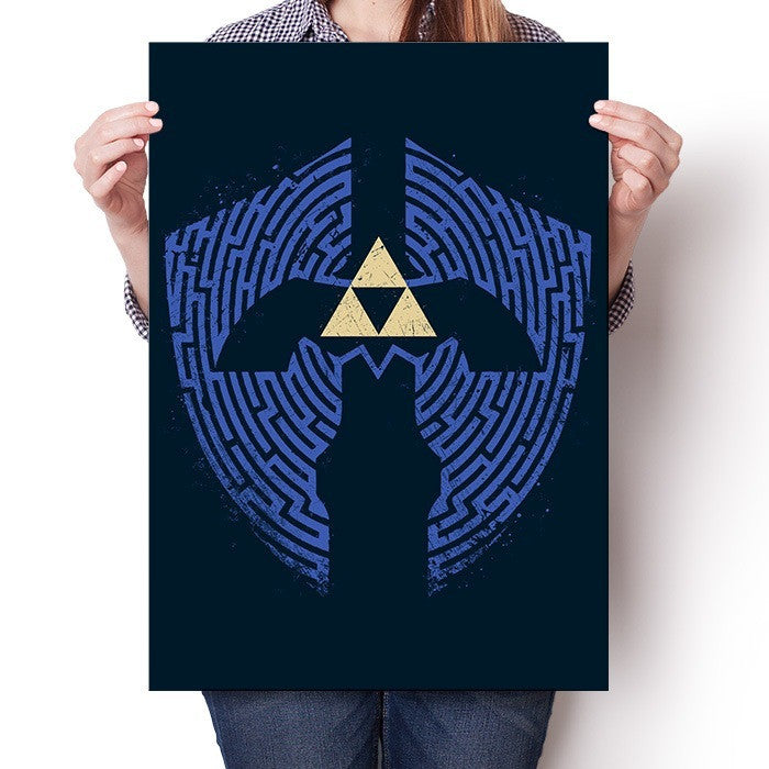 Triforce Labrynth - Poster