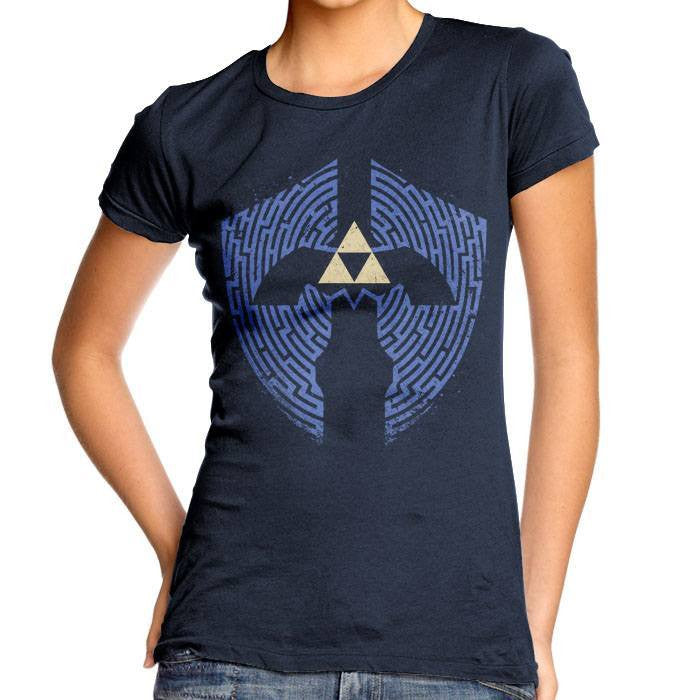 Triforce Labrynth - Women's Fitted T-Shirt
