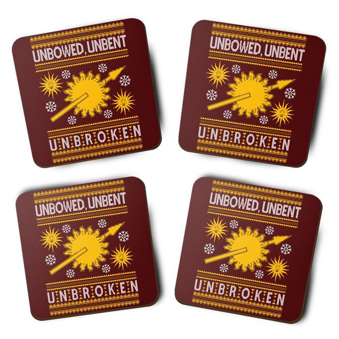Unbowed. Unwrapped. Unbroken. - Coasters