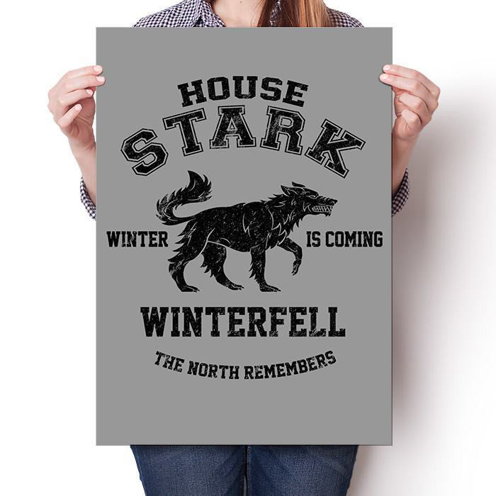 Winter is Coming (Black) - Poster