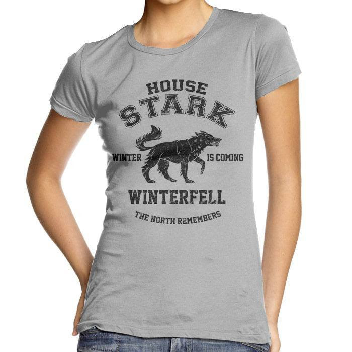 Winter is Coming (Black) - Women's Fitted T-Shirt
