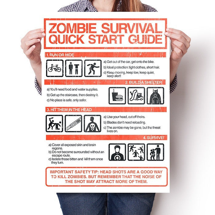 Zombie Survival Quick Start Guide - Poster