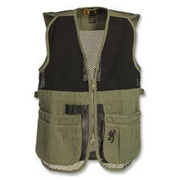 Browning Trapper Creek Mesh Shooting Vest, Sage/Black