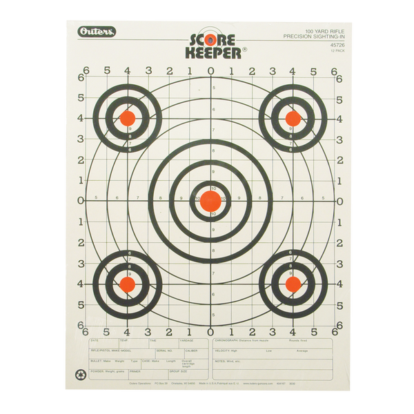 Champion 100 Yard Rifle Precision Sighting-In