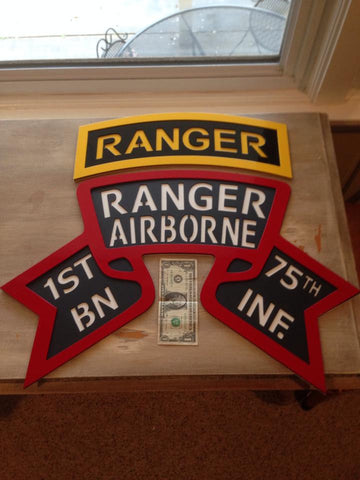 Combined Ranger Battalion Scroll and Ranger Tab