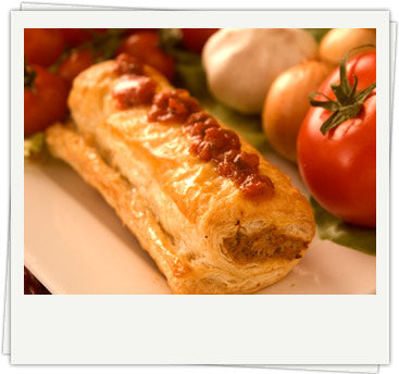 Pudding Pie Red Pepper Sausage Rolls