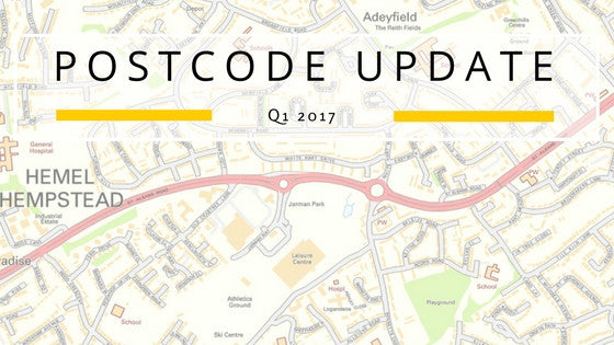 Postcode Updates, The 2017 General Election, EU Referendum Results and Ceremonial Counties