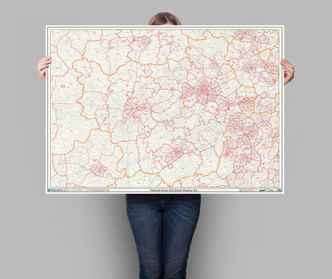 Thames Valley Reading Postcode Map