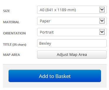 Bexley London Borough Street Map Options