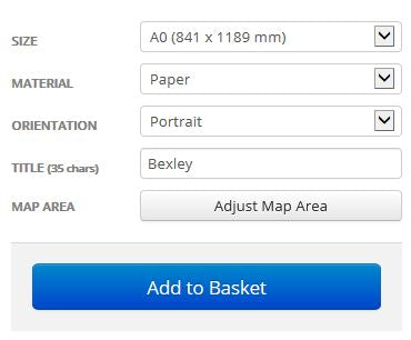 Bexley London Borough Postcode Map Options