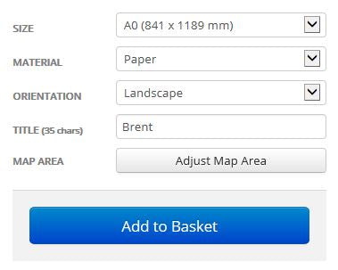 Brent London Borough Postcode Map Options