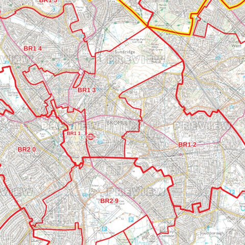 Bromley London Borough Postcode Map