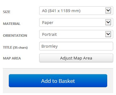 Bromley London Borough Street Map Options