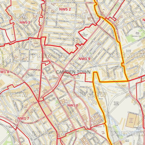 London Borough Postcode Maps